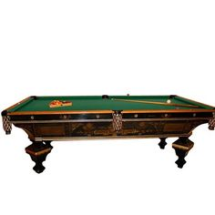 "7137 Antique Brunswick ""brilliant Novelty"" Pool Table"