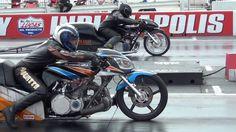 Turbo drag bike motorcycle drag racing video NHDRO Indy 8-20-11
