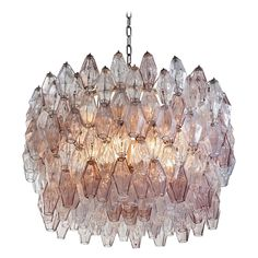 Carlo Scarpa Handblown Murano Glass 'Poliedri' Chandelier by Venini | See more antique and modern Chandeliers and Pendants at http://www.1stdibs.com/furniture/lighting/chandeliers-pendant-lights