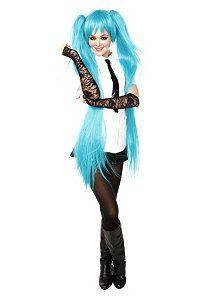 Virtual Pop Singer! LOVE the wig, but i would wear a LONGER skirt.