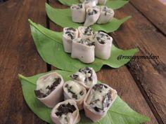 Ricetta Antipasto : Finger food - rotolini di tacchino farciti con stracchino e olive da RossoPomodoro