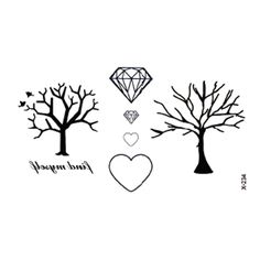 8f5de6f6ea40a Wyuen Plant Tree Waterproof Temporary Tattoo Stickers for Adults Kids Body  Art New Design Fake Tatoo