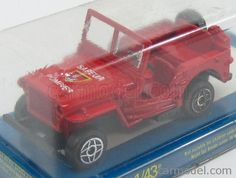 SOLIDO 95414 Scale 1/43  JEEP WILLYS FIRE ENGINE - SAPEUR 1944 RED