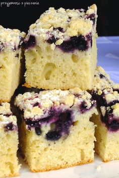 blueberry buttermilk bundt cake is filled with fresh blueberries and topped with a thick sugar glaze. The cake is super tender and moist! Tea Cakes, Bunt Cakes, Food Cakes, Cupcake Cakes, Cupcake Recipes, Baking Recipes, Dessert Recipes, Blueberry Cake, Blueberry Recipes