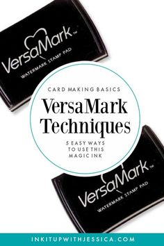 VersaMark Techniques: This Ink Pad is MAGIC! This ink pad is MAGIC! Here are 5 easy VersaMark Techniques to use in your card making.This ink pad is MAGIC! Here are 5 easy VersaMark Techniques to use in your card making. Card Making Tips, Card Tricks, Card Making Tutorials, Card Making Techniques, Making Ideas, Craft Making, Making Cards, Card Making Inspiration, Stampin Up Anleitung