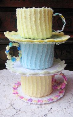 tea cup cake . re-pinned by colette's cottage . uploaded by user