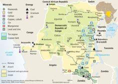 R Congo mineral mines map Congo Crisis, Congo Free State, Rd Congo, Belgian Congo, Old Hospital, International Development, Congo Kinshasa, Historical Maps, Republic Of The Congo