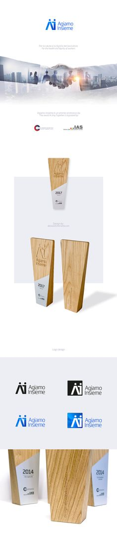 AGIAMO INSIEME This award was created to promote the protection of the health and dignity of persons in the workplace. We designed the logo, the diploma and the prize that every year is awarded to companies which undertake to retrieve a job for people with health problems. For this reason we are very proud to have done it. Health Problems, Workplace, Web Design, Logo, Create, People, Design Web, Logos, People Illustration