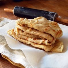 """Fresh soft and delicious roti (""""rho-tee""""), a bread accompaniment for various spicy Indian curries and sweet puddings"""