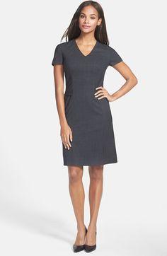 665590375e1 BOSS  Dilina  Stretch Wool Suiting Sheath Dress