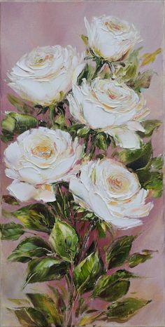 Oil painting roses Beautiful flowers Oil painting on canvas Moon Painting, Oil Painting Flowers, Oil Painting Abstract, Painting Art, Watercolor Painting, Nature Oil Painting, Paint Flowers, Paintings Famous, Art Paintings