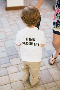 #1 Ring bearer outfit...black pants, long sleeve button-down ring security shirt