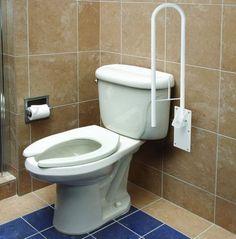 Safety Rail Frame Bathroom Toilet Grab Bar Support Handicap Holder Handle  Health | EBay