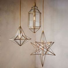 "Moroccan Glass Pendants #westelm $299 TALL STAR Overall product dimensions: 18""diam. x 25""h. Canopy dimensions: 5""diam. Minimum hanging height: 32"". Maximum hanging height: 68""."