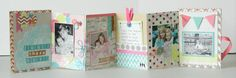 Instructions on how to make a DIY mini album. Super cute!