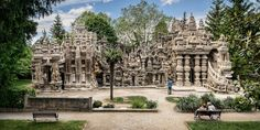 Mailman Ferdinand Cheval built this extravagant palace with pebbles he collected on his daily 18-mile route. It took him 33 years to create Palais Idéal.(photo: Thierry OLLIVIER)