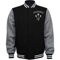 Personalized Darts Player Fleece Varsity Jacket | Available in other styles & colors.