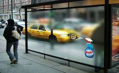 Windex outdoor advertising campaign.
