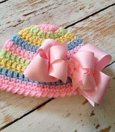 Crochet Easter Hat  Ready to Ship Newborn Size  by boogybabies, $19.99