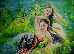 """To meet the oil painter Wang Junying Smile Day paintbrush record """"Smile""""-Author News-王俊英- Powered by AspCms"""