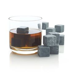 Set of 12 Small Whiskey Rocks - An innovative chilling option for the whisky connoisseur. Soapstone beverage cubes keep drinks cool without watering them down.