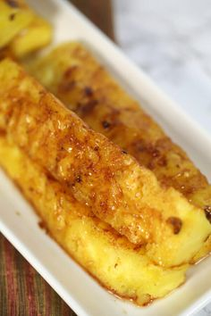 This Brazilian Grilled Pineapple is one of my favorite grilled pineapple recipes. It's easy to make and just like you'd find at a Brazilian steakhouse.