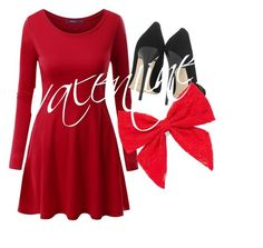 """Quick Valentines day outfit"" by forestunicorn ❤ liked on Polyvore featuring Doublju, Jimmy Choo and Carole"