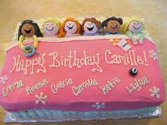 Awesome cake for a sleepover! Really cute idea