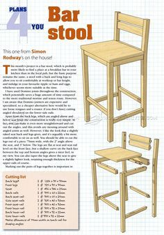 DIY Bar Stools - Furniture Plans