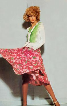 Designer that became recognized in the 60's  Kenzo, Photo by Guy Bourdin French Vogue 1974