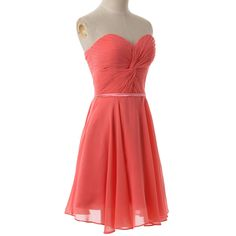 Elegant Strapless Short Chiffon Bridesmaid Dress