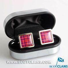Clan Rose Tartan Cufflinks