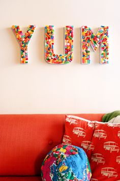 DIY Candy YUM Sign {