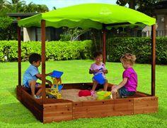 New backyard kids playground bryce canyon 53 ideas Backyard Gazebo, Backyard Playground, Backyard For Kids, Diy For Kids, Pallet Sandbox, Pallet Kids, Sandbox Cover, Kids Sandbox, Sandbox Ideas