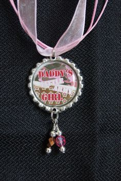 Daddy's Little Army Girl Bottle Cap Necklace by KokomoCutieDesigns, $8.50