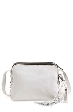 LOEFFLER RANDALL Double Zip Leather Crossbody Bag. #loefflerrandall #bags #shoulder bags #leather #crossbody #lining