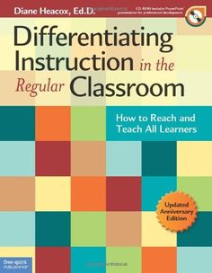 Differentiating Instruction in the Regular Classroom: How to Reach and Teach All Learners - A practical introduction to differentiation and how to differentiate instruction in a wide range of settings to provide variety and challenge for all learners. Instructional Strategies, Differentiated Instruction, Teaching Strategies, Gifted Education, Education Major, Childhood Education, Differentiation In The Classroom, Flipped Classroom, Special Education