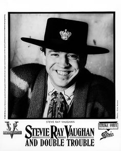 Stevie Ray Vaughan & Double Trouble Promo Print - Concert photos and band pics from Bill Graham Presents including rock concerts at the Fillmore, Fillmore East , and Winterland.