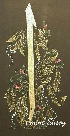 Arabic Calligraphy Art, Arabic Art, Calligraphy Alphabet, Islamic Art Pattern, Pattern Art, Illuminated Letters, Illuminated Manuscript, Arabesque, Motif Oriental