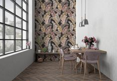 Banana leaves unique wallpaper will look amazing in any space of your modern, scandinavian style home or your trendy restaruant. Repetition of patterns: 60 x 80 cm. This custom made wall mural is available in three different colors. Scandinavian Style Home, Banana Leaves, Unique Wallpaper, Pattern Wallpaper, Wall Murals, Different Colors, Tropical, Patterns, Space