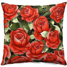 Give roses that last for Valentine's Day. Hand-drawn by Alison at PenJarProductions.com Holiday Gift Guide, Holiday Gifts, Bedroom Ideas For Teen Girls Grey, Red Home Decor, Red Throw Pillows, Art Desk, Woman Bedroom, Couple Wallpaper