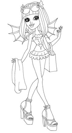 Monster High Rochelle Gregory Goyle Are Go Coloring Page