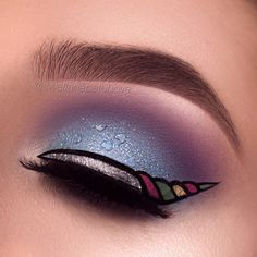 Unicorn make up Makeup Clown, Eye Makeup Art, Eye Makeup Tips, Makeup Inspo, Eyeshadow Makeup, Makeup Inspiration, Eyeshadow Palette, Makeup Ideas, Eye Art