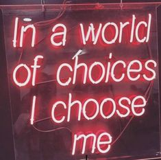 This time .. I have to choose myself