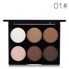 MAYCHEER Brand Face Pressed Powder 6 Colors Compact Makeup Kit Highlighter Powder Bronzer Contour Palette Cosmetic Contour Kit, Contour Palette, Bronzer, Concealer, Makeup Kit, Beauty Makeup, Whitening, Eyeshadow