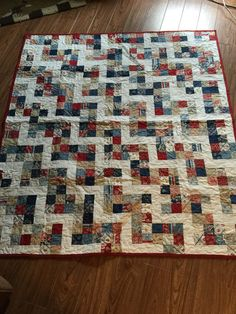 Americana Lap Quilt Handmade by CarolynsQuilting on Etsy