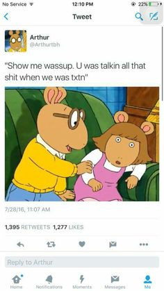 I caaaant with the Arthur memes anymore