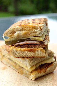 a cuban inspired sandwich - good bread, tender pork, ham, cheese mustard. Can it get any better? #sandwich