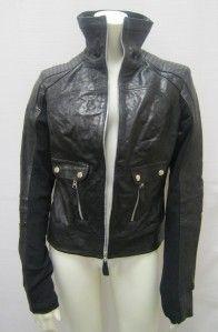 Bagatelle Black Genuine Leather Jacket Sz s 658HS | eBay