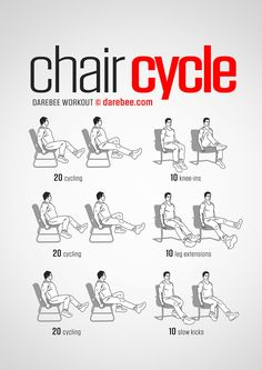 Chair Cycle workout.